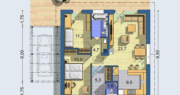 Screenshot_2021-03-25 Rodinné domy Euroline - Bungalov S 1401
